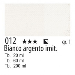 012 - Maimeri Olio Artisti Bianco d'argento imit.