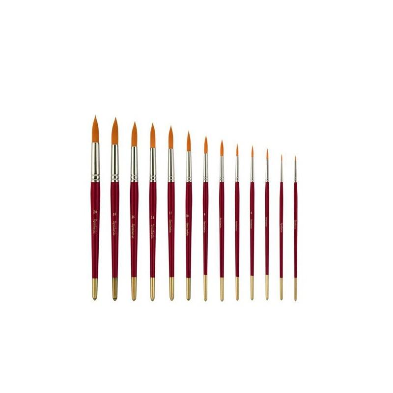 Pennello serie n.C1014RS, in pelo sintetico a punta tonda