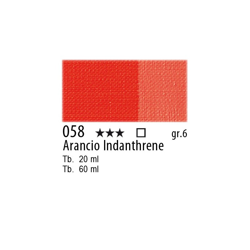 058 - Maimeri Olio Artisti Arancio Indanthrene