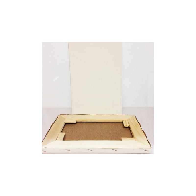CM.25X30 - Telaio telato misto cotone 300 gr/mq, spessore normale, made in Italy