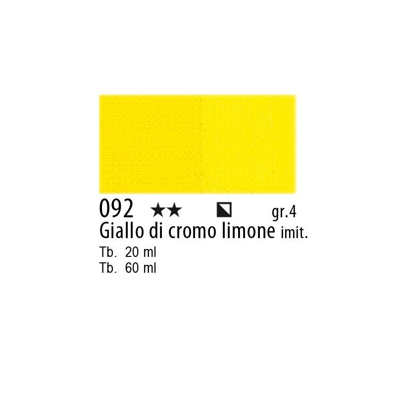 092 - Maimeri Olio Artisti Giallo di cromo limone imit.